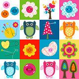 stitch owls background