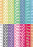 Digital Paper - Circle Stripes 14 Colors Mixes