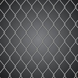 Metal fence on dark background