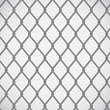 Wire fence on white background