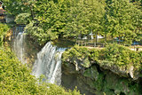 Waterfalls in green nature of Korana river