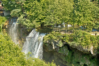 Waterfalls in green nature of Korana river