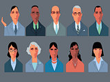 Business people cartoon characters