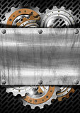 Industrial Gears Metal Background