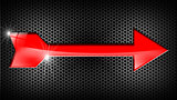 Red Arrow on Black Background