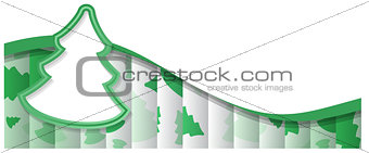 abstract green background Christmas tree