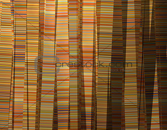 3d abstract striped curtain backdrop orange pink