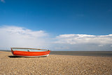 Fishing Boat on Dunwich Beach, Suffolk, England