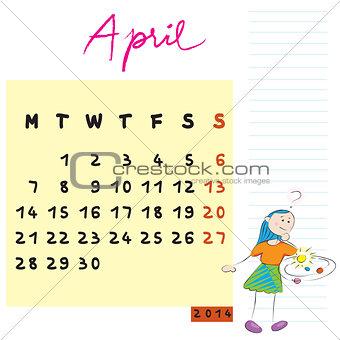 april 2014 kids