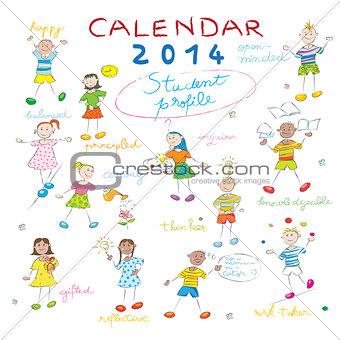calendar 2014 kids cover