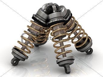 Four automotive shock absorber