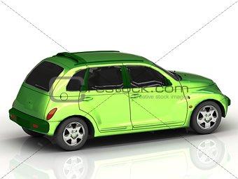 Beautiful green car