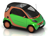 Economical small green car