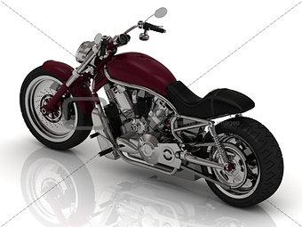 Powerful road motorcycle