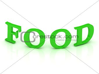 FOOD sign with green letters