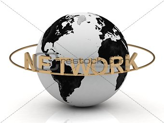 Gold NETWORK and gold ring