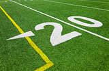 Twenty yard line - football