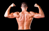 muscular bodybuilder's back