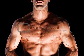Muscular man's chest