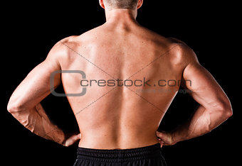 Back of a muscular man