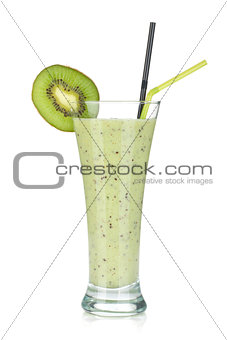Kiwi milk smoothie