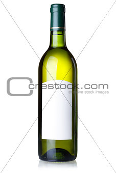 Wine collection - White wine in green bottle