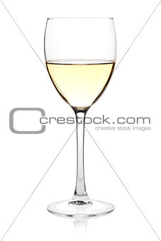 Wine collection - White wine in glass
