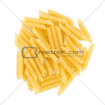 Heap of penne pasta