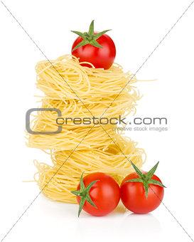Cherry tomatoes and pasta