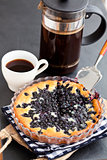 Blueberry pie and coffee