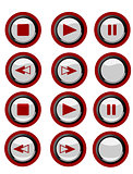 red media buttons