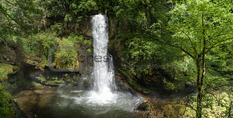 waterfall of Ferrera in the forest