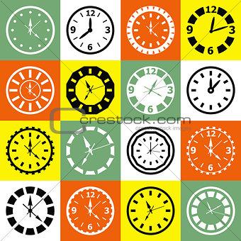 Clock mosaic