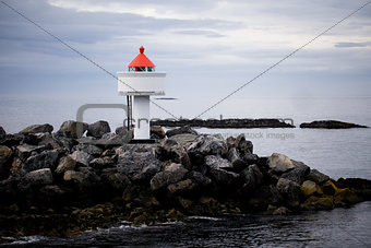 Lighthouse on stones