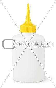 Oil or glue bottle on white