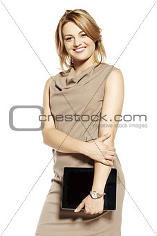 Attractive businesswoman with digital tablet