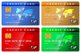 4 color credit or debit card design template