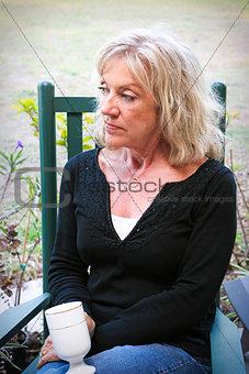 Beautiful Senior Woman Relaxing