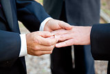 Gay Wedding - Exchanging Rings