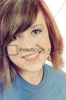 Fashion portrait of beautiful young girl