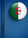 Algeria Flag Button in Jeans Pocket