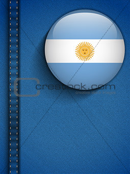 Argentina Flag Button in Jeans Pocket
