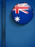 Australia Flag Button in Jeans Pocket