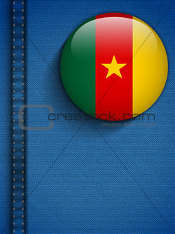 Cameroon Flag Button in Jeans Pocket