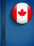 Canada Flag Button in Jeans Pocket