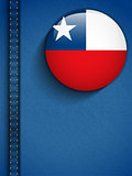 Chile Flag Button in Jeans Pocket