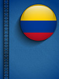 Colombia Flag Button in Jeans Pocket