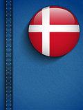 Denmark Flag Button in Jeans Pocket
