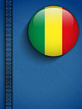 Mali Flag Button in Jeans Pocket