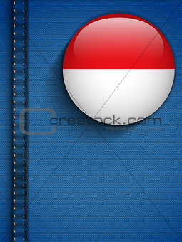 Monaco Flag Button in Jeans Pocket